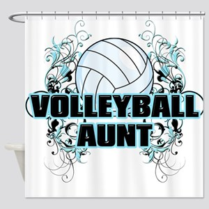 Volleyball Aunt (cross) Shower Curtain