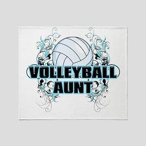 Volleyball Aunt (cross) Throw Blanket