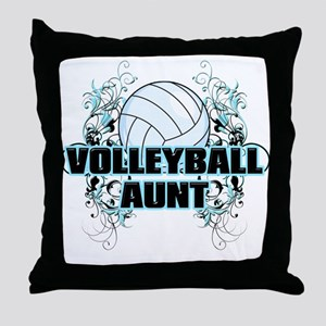Volleyball Aunt (cross) Throw Pillow