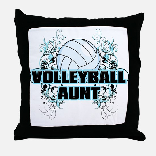 Volleyball Aunt (cross).png Throw Pillow
