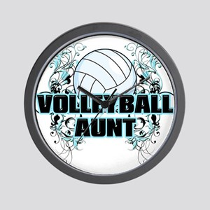 Volleyball Aunt (cross) Wall Clock