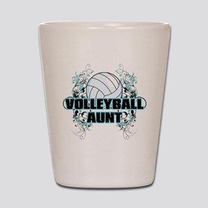 Volleyball Aunt (cross) Shot Glass