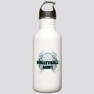 Volleyball Aunt (cross) Stainless Water Bottle