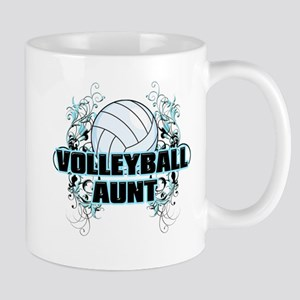Volleyball Aunt (cross) Mug