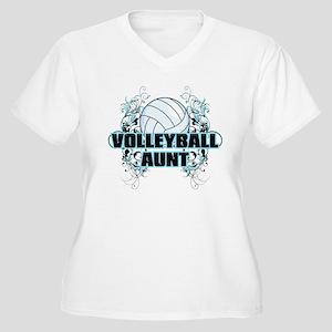 Volleyball Aunt (cross) Women's Plus Size V-Ne