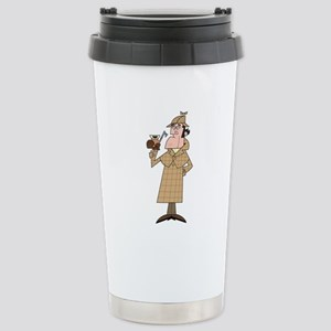 Sherlock - Headshot Stainless Steel Travel Mug