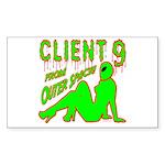 client9fromouterspace Sticker (Rectangle 10 pk)