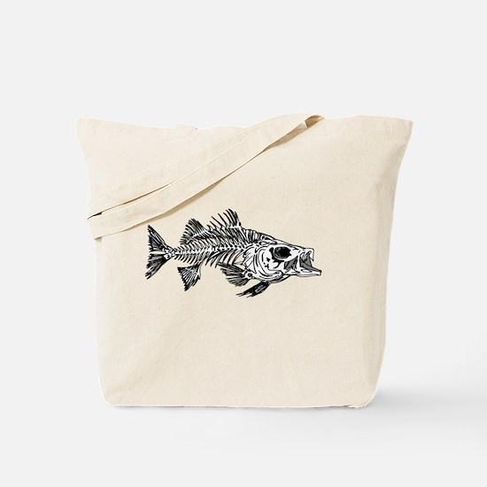 Striped Bass Skeleton Tote Bag