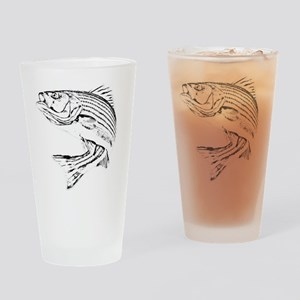 Striped Bass Drinking Glass