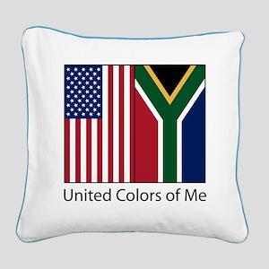 US SA Me Square Canvas Pillow
