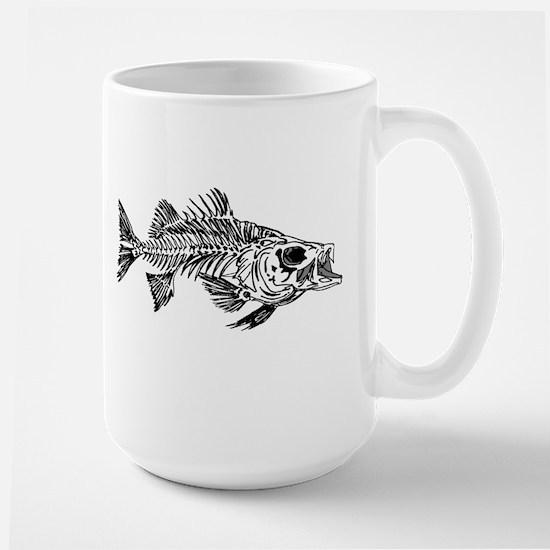 Striped Bass Skeleton Large Mug