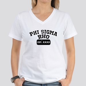 Phi Sigma Rho Athletic Women's V-Neck T-Shirt