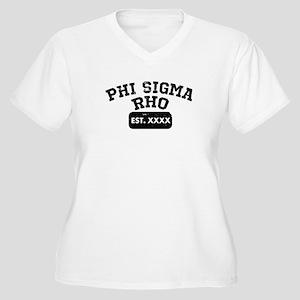 Phi Sigma Rho Ath Women's Plus Size V-Neck T-Shirt