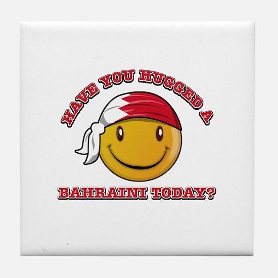 Cute Bahraini Smiley Design Tile Coaster