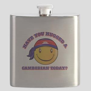 Cute Cambodian Smiley Design Flask