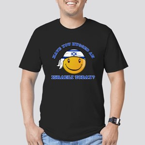 Cute Israeli Smiley Design Men's Fitted T-Shirt (d