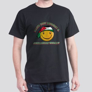 Cute Jordanian Smiley Design Dark T-Shirt