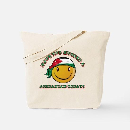 Cute Jordanian Smiley Design Tote Bag