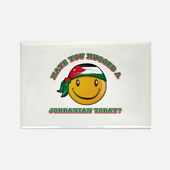Cute Jordanian Smiley Design Rectangle Magnet