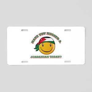 Cute Jordanian Smiley Design Aluminum License Plat