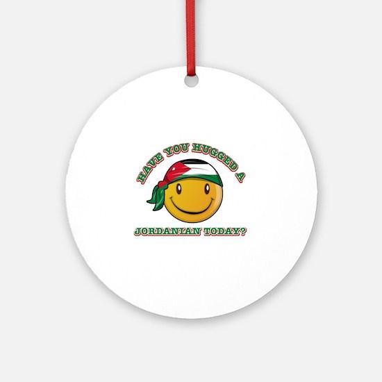 Cute Jordanian Smiley Design Ornament (Round)