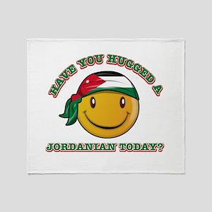 Cute Jordanian Smiley Design Throw Blanket