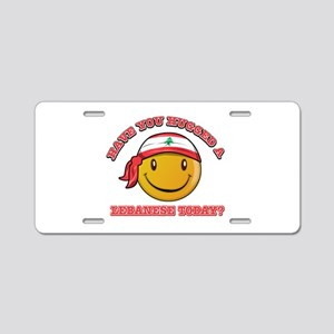 Cute Lebanese Smiley Design Aluminum License Plate
