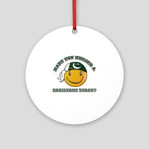 Cute Pakistani Smiley Design Ornament (Round)