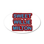 Sweet Willie Milton Logo 35x21 Oval Wall Decal