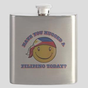 Cute Filipino Smiley Design Flask