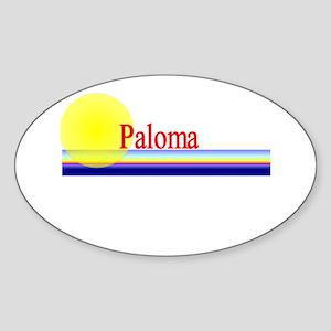 Paloma Oval Sticker