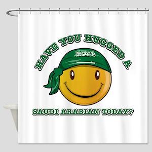 Cute Saudi Arabian Smiley Design Shower Curtain