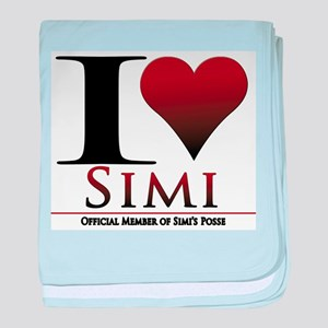 Love Simi baby blanket