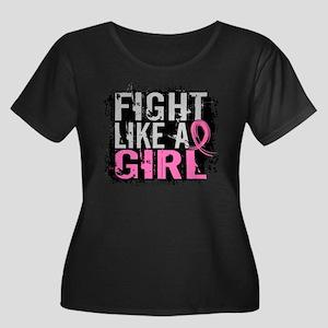 Licensed Women's Plus Size Scoop Neck Dark T-Shirt