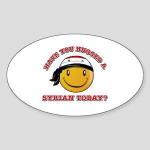 Cute Syrian Smiley Design Sticker (Oval)