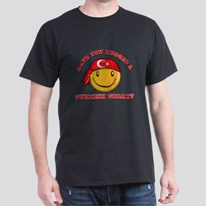 Cute Turkish Smiley Design Dark T-Shirt