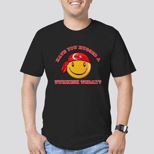 Cute Turkish Smiley Design Men's Fitted T-Shirt (d