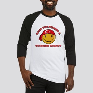 Cute Turkish Smiley Design Baseball Jersey