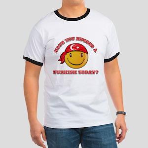 Cute Turkish Smiley Design Ringer T