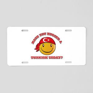 Cute Turkish Smiley Design Aluminum License Plate