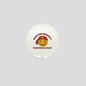 Cute Vietnamese Smiley Design Mini Button