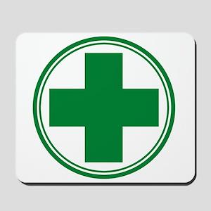 Green Cross Mousepad