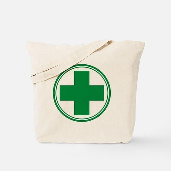 Green Cross Tote Bag