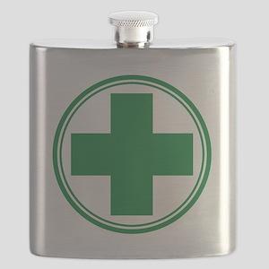 Green Cross Flask