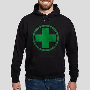 Green Cross Hoodie (dark)