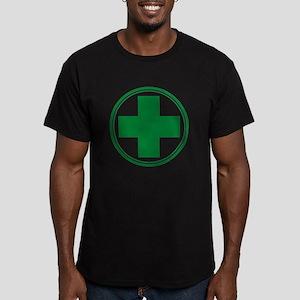 Green Cross Men's Fitted T-Shirt (dark)
