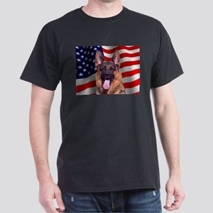 Patriotic German Shepherd Ash Grey T-Shirt