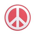 """Peace Sign 3.5"""" Button"""