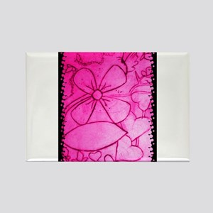 Pink flowery mirage Rectangle Magnet