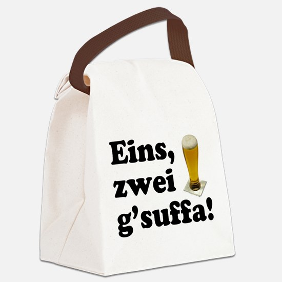 Drink Up Oktoberfest Canvas Lunch Bag